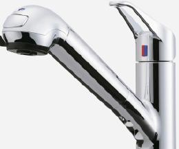 標準装備 浄水器一体型 混合水栓の写真